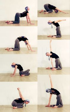 Crossed knees position for stretching #creativeflow #yoga #stretching #backbend #hipstretch #yogasequence