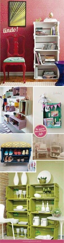 Caixotes de feira decorativos
