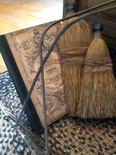 Whisk brooms I gave a primitive facelift. | brooms