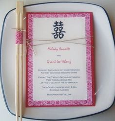 Asian theme party invite