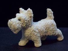 Scottish Terrier Scottie DOG Vintage Pebbled Porcelain Figurine Japan | eBay