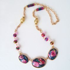 Decoupaged Napkin Necklace Upcycle – WhimziVille