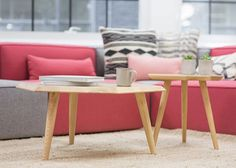 Coffee tables in front of a comfy sofa – Interior – Modern Home interior Design Kitchen 101 Home Interior, Interior Decorating, Decorating Ideas, Living Room Furniture, Living Room Decor, Dining Decor, Ikea Furniture, Painting Furniture, House Furniture