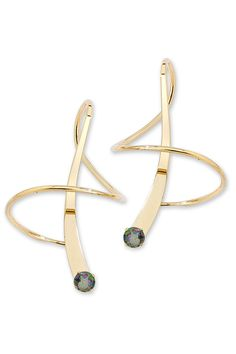 Topaz Gemstone Earspirals - Fun design - in Silver?