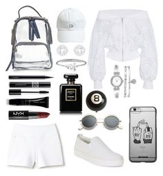 """""""Cool Queen"""" by grace-ooi ❤ liked on Polyvore featuring SemSem, Lacoste, The Flexx, Anne Klein, Tommy Hilfiger, Chanel, MAC Cosmetics, Christian Dior, Giorgio Armani and NYX"""