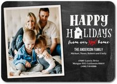 Household Portrait - Moving Announcements in Black or Winterberry New House Announcement, Graduation Announcement Cards, Moving Announcements, Holiday Cards, Christmas Cards, Xmas, Change Of Address, Tiny Prints, Moving Tips