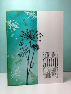 Perfect Pennants: SU!, silhouette stamp: Inkadinkado, by beesmom - Cards and Paper Crafts at Splitcoaststampers
