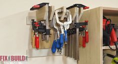 Build this Wall Clamp Storage Rack in just a couple hours! FixThisBuildThat.com