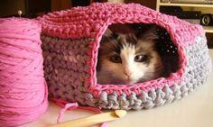 cueva gato trapillo, zpaguetti, crochet xl
