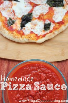 This Homemade Pizza Sauce Recipe is easy and tastes so great. Made with San Marzano Tomatoes, you might never buy sauce again. Recipe on Frugal Coupon Living.