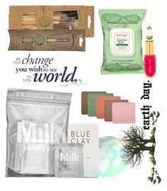 """earth day"" by ampire ❤ liked on Polyvore featuring beauty, Torrid, Herbivore, MILK MAKEUP, Burt's Bees, Winky Lux, Inglot, GREEN, earthday and eco"