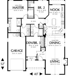 European Cottage Plan with Living Areas Up Front - 69121AM | 1st Floor Master Suite, CAD Available, Cottage, Craftsman, Northwest, PDF, Photo Gallery | Architectural Designs
