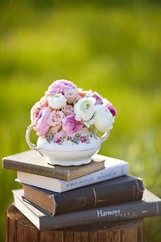Pretty much sums it up...books, flowers, beauty...