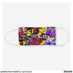 Shop pansies face+mask cloth face mask created by Personalize it with photos & text or purchase as is! Printer Ink Cartridges, Ear Loop, Pansies, Sensitive Skin, Sunglasses Case, First Love, Face Masks, Christopher Columbus, Spirit