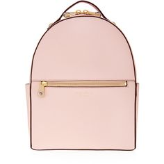 Henri Bendel West 57th Backpack ($298) ❤ liked on Polyvore featuring bags, backpacks, lt pink, zipper bag, zip handle bags, knapsack bags, henri bendel bags and handle bag