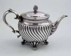 Tiffany antique silver teapot