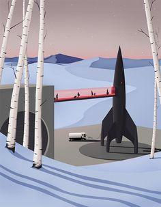 Spaceship #illustration