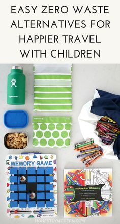 Easy Zero Waste Alternatives for Happier Travel with Children