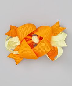 Take a look at this Orange & Yellow Knotted Clip by The Hair Candy Store on #zulily today! http://www.thehaircandystore.com