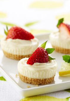 No oven is required for these light and refreshing Strawberry Lemonade Cheesecake Bites.