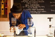 Chemistry of coffee...  Seniman coffee bar, Bali, by Lucie Radova