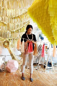 Confetti System studio in NYC - nicholas andersen and julie ho make fun, sparkly party pinatas, tassel-streamers, etc