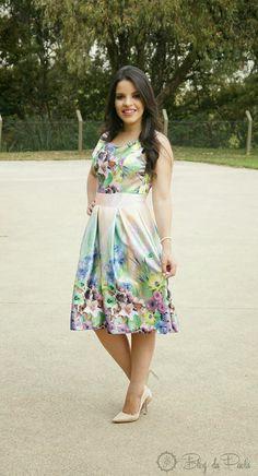 Look do Dia: Vestido Midi Lady Like. By Bonequinha Charmosa | Blog da Paola