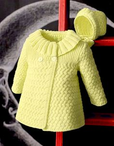 Beautiful Coat – Free Knitting Pattern – The best ideas Baby Cardigan Knitting Pattern Free, Kids Knitting Patterns, Baby Sweater Patterns, Knit Baby Sweaters, Knitting For Kids, Knitting Designs, Free Knitting, Knitting Baby Girl, Knitted Baby Cardigan