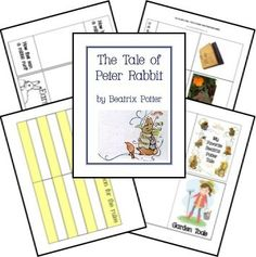 WONDERFUL idea to tie in Peter Rabbit with a study of the garden! This is a FREE The Tale of Peter Rabbit Unit Study & Lapbook Printables created by Jolanthe (Homeschool Creations) and Ami (Walking By The Way and one other person...simply a fantastic resource...and free!