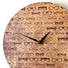 Retro Wall Clock Home and Living Brown Chevron by Shannybeebo Cyber Monday, Handmade Clocks, Home Decoracion, Wall Clock Design, Unique Wall Clocks, Retro Home Decor, Objet D'art, Eye Art, Office Decor