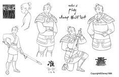 Clean-Up Modelsheet2 (Mulan as Ping) by ~dagracey