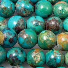 Round turquoise stones