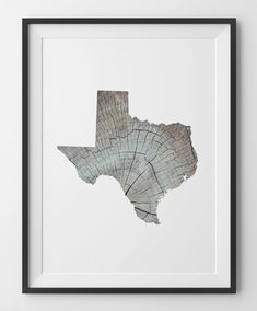 Texas Wood Print Rustic Wood Knot Art Texas Wood Wall Art