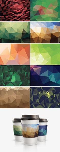 10 Geometric Backgrounds - download freebie by PixelBuddha