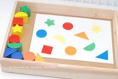 Formen und Farben sortieren, Lernanregung selbstgemacht, Farben lernen, Formen lernen