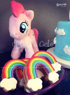 Rainbow cookies at a My Little Pony birthday party! See more party ideas at CatchMyParty.com!