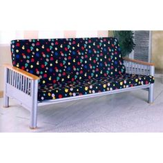 Silver Finish Futon Frame With Natural Finish Arms 2068 (CO)    http://www.nationalfurnishing.com/item--Silver-Finish-Futon-Frame-With-Natural-Finish-Arms-2068-CO--f2068co.html