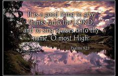 Psalms 92:1
