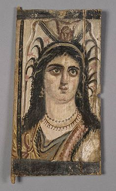 Triptych panel with painted image of Isis - Romano - Egyptian, Egypt, about A.D 100 - Tempera on wood - The J Paul Getty Museum Ancient Rome, Ancient Art, Ancient History, Art History, Isis Goddess, Egyptian Goddess, Egypt Culture, Egyptian Mummies, Art Antique