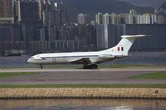 RAF VC10 at Hong Kong