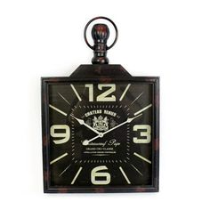 STUNNING SQUARE IRON FOB CLOCK Chrome Wall Clock, Silver Wall Clock, White Wall Clocks, Mirror Wall Clock, Black Clocks, Pendulum Wall Clock, Metal Clock, Wall Clock Design, Wood Clocks