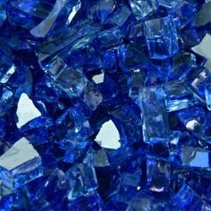 Fire Pit Essentials 1/4 in. 10 lbs. Reflective Deep Sea Blue Original Fire Glass for Indoor and Outdoor Fire Pits or Fireplaces-PF-PX9Y-1OU3 - The Home Depot