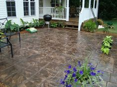 Stamped Concrete Outdoor Patio In Your Yard