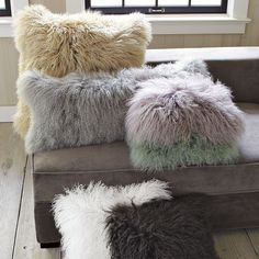 Mongolian Lamb Pillow Cover   west elm