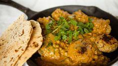 Vegan Chickpea Meatballs in Creamy Curry Cashew Sauce... Yum! | Kris Carr #vegan #dinner