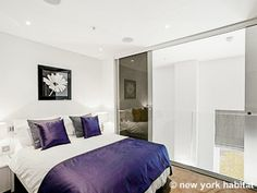 If purple is the color of royalty then you'll sleep like a king in this #vacation #rental in #CoventGarden #London. Check it out: http://www.nyhabitat.com/london-apartment/vacation/1246