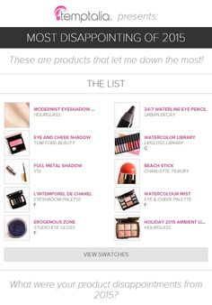 10 Most Disappointing Products of 2015   temptalia