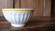 cafe au lait bowl french vintage coffee white by ancienesthetique, $20.00