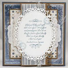 Blått, hvitt, sølv og kraft – Papirmølla Distress Ink, Copic, Decorative Plates, Photoshop, Frame, Picture Frame, Frames