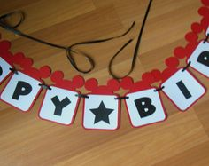 Mickey Mouse Banner, Custom Mickey Mouse Banner, Mickey Birthday Banner